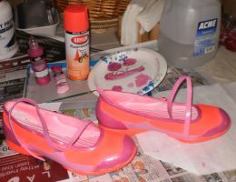Pink Shoes for My Friend on Pride Day by MelyssaThePunkRocker