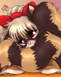 Anthro Raccoon Girl Love Her Tail by Joakaha