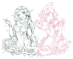 Nessa and Luz sketch by Rolly-Chan
