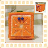Cube Orange by ninjamoy