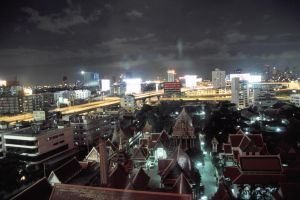 Bangkok Night View by hellosarajevo
