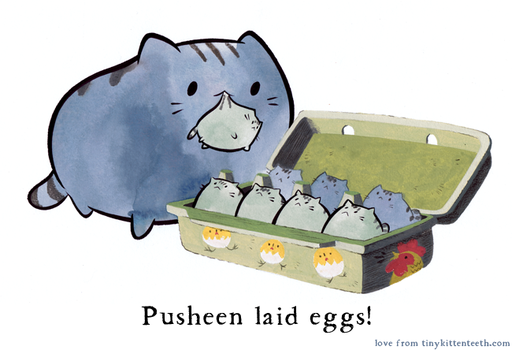 Pusheen by Pocketowl