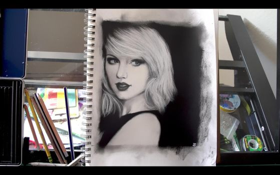 Taylor Swift Etsy Order On Charcoal On Paper by TheCreativeChameleon