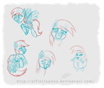 Little Derps (Sketches) by AffinityShy