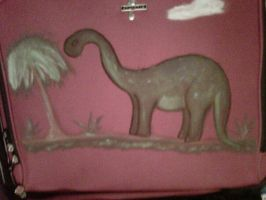 Awesome Suitcase: Dinosaur by pixiedustling