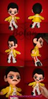 chibi Freddy Mercury plush version by Momoiro-Botan
