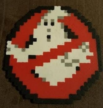 Perler Ghostbusters Logo by DuctileCreations