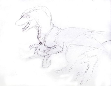 Sketch Request - Assassin Raptor by Jianre-M