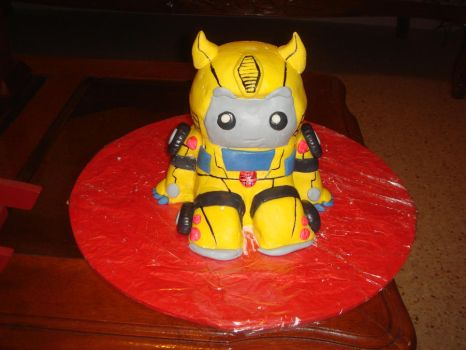 Chibi Transformers Cake by Xaladrion