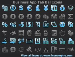 Business App Tab Bar Icons by Ikont