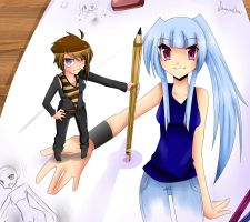 Sam draws a Picture by Tenshi-MiharU