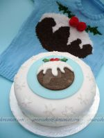 X-Mas Puds by ginas-cakes