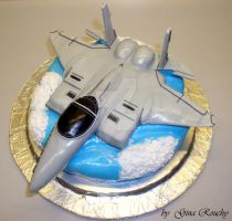 Fighter Jet Cake by ginas-cakes