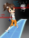 Wheatley and Chell Escape by RabuPep