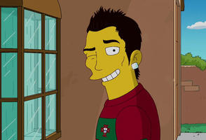 C Ronaldo Simpsons style by Phylion