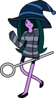 ADVENTURE TIME OC: Darlene the Bubble Witch Revamp by FrozenStrike
