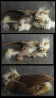 OOAK Mother Gryphon and Cubs by M-J-Albert