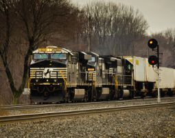 Norfolk Southern Locomotive 2 by missconceitedme