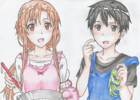 SAO Cooking with Asuna and Kirito by DevilishMirajane
