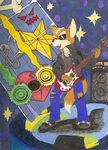 James McCloud as Guitar Hero by StarFox-Saiyan