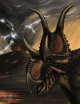 Diabloceratops eatoni by MicrocosmicEcology