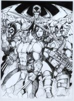 Uncanny X-Force Inked by Dingodile24