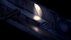 2D survival horror game mockup - sewers by Pyroxene