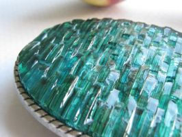 Mosaic Belt Buckle Ocean Waves by aimeezart