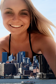 Giantess Steph Examines her City by dochamps