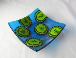 Fused Glass Dengue Fever Virus Dish by trilobiteglassworks