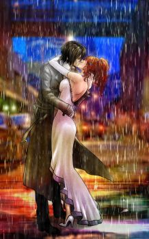 Kissing in the Rain by BillieFeng