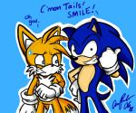 Sonic and Tails...errrr... by ojamajodoremidokkan
