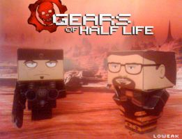 Gears of Half Life Papercraft by Loweak