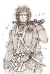 Outlander - The Highlander - Sketch by Lehanan