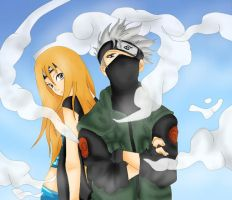Shinju and Kakashi by Shiro-Crow