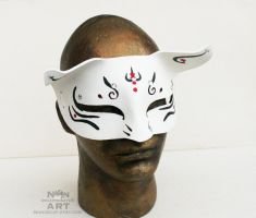 Beast Mask in Black Red and white - one of a kind by nondecaf