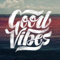 Good Vibes - Lettering T-Shirt Graphic Design by sebiondeviant