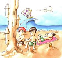 sand castle by Gigei