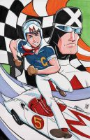 Speed Racer and Racer X Commisssion by calslayton