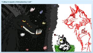 iScribble Again -SPACE- by The-Caretaker