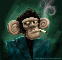 Smoking monkey by kineticdan