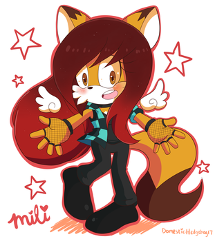 Mili the wolf by Domestic-hedgehog