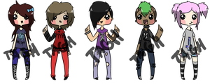 Punk Adoptables [OPEN] by ToAGoodHome