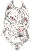 Pen and ink woof woof by JackRussellVenom