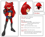 :.Amber the Hedgehog Ref.: by Shocky-Shiver