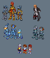 Kingdom hearts sprite dump 2 by Zenaki