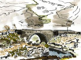big bridge over Daill river by merearthling