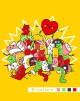.:Gummy Party:. tee design by SaMtRoNiKa