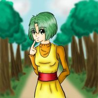 Midori in a Park by bomberanian