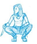 Rough study of crouching woman by Colemanimation
